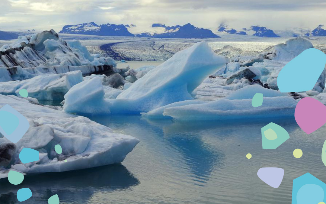 Ice shards and snow. Microplastics have been found in the Arctic & the importance of going plastic-free with Bonnie Bio