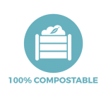 Box with compost heap showing Bonnie Bio UK's biodegradable straws are fully compostable