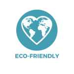 The Earth in the shape of a heart showing Bonnie Bio Uk's biodegradable straws are eco-friendly